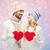 aumentó · cuarzo · corazón · guijarros · amor · naturaleza - foto stock © dolgachov