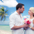 flores · praia · tropical · árvore · paisagem · mar · oceano - foto stock © dolgachov