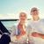 pareja · de · ancianos · gafas · vela · barco · yate · vela - foto stock © dolgachov