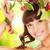 женщину · яблоко · веточка · фотография · лице · здоровья - Сток-фото © dolgachov