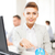 üzleti · partnerek · menetrend · épület · megbeszélés · üzletember · notebook - stock fotó © dolgachov