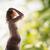 siluet · resim · hamile · güzel · bir · kadın · aile · annelik - stok fotoğraf © dolgachov