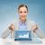 улыбаясь · деловая · женщина · бизнеса · технологий · интернет - Сток-фото © dolgachov