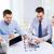 sorridente · pessoas · de · negócios · reunião · escritório · tecnologia · equipe · de · negócios - foto stock © dolgachov