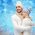 smiling couple in winter clothes hugging stock photo © dolgachov