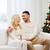 feliz · Pareja · casa · árbol · de · navidad · familia · Navidad - foto stock © dolgachov