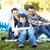 család · kempingezés · sátor · mosolyog · boldog · gyermek - stock fotó © dolgachov