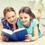 uczennice · nauki · domu · wraz · salon · książek - zdjęcia stock © dolgachov