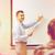grupy · studentów · uśmiechnięty · nauczyciel · notatnika · edukacji - zdjęcia stock © dolgachov