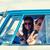 souriant · jeunes · hippie · femmes · conduite - photo stock © dolgachov