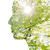 doble · exposición · mujer · perfil · árbol · follaje - foto stock © dolgachov