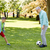 yaşlı · adam · futbol · topu · kırmızı · siyah · beyaz · yalıtılmış - stok fotoğraf © dolgachov