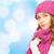 jonge · vrouw · winter · kleding · geluk · vakantie · christmas - stockfoto © dolgachov