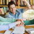 studenten · boeken · handen · top · bibliotheek · mensen - stockfoto © dolgachov