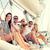 lächelnd · Freunde · Sitzung · Yacht · Deck · Urlaub - stock foto © dolgachov
