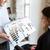 kadın · saç · rengi · paletine · salon · güzellik - stok fotoğraf © dolgachov