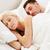 feliz · casal · adormecido · juntos · cama · menina - foto stock © dolgachov