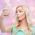 tienermeisje · zelfportret · smartphone · technologie · vrouw - stockfoto © dolgachov