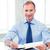 ハンサム · ビジネスマン · 書く · ノートブック · 画像 · 男 - ストックフォト © dolgachov