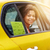 happy african american woman driving in taxi stock photo © dolgachov