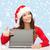 ordenador · portátil · mujer · Screen · sonriendo · feliz - foto stock © dolgachov