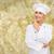 mosolyog · női · szakács · álmodik · főzés · étel - stock fotó © dolgachov