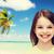 mosolyog · kislány · fehér · boldogság · emberek · boldog - stock fotó © dolgachov