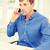 jóképű · üzletember · beszélget · fiatal · telefon · fényes - stock fotó © dolgachov