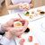 paar · holding · handen · restaurant · mensen · liefde - stockfoto © dolgachov