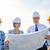 csoport · építők · terv · üzlet · épület · csapatmunka - stock fotó © dolgachov