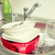 close up of dirty dishes washing in kitchen sink stock photo © dolgachov