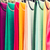 colorful textile at asian street market stock photo © dolgachov