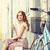 fiatal · elegáns · nő · klasszikus · bicikli · európai - stock fotó © dolgachov