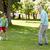familia · jugando · fútbol · parque · verano · familia · feliz - foto stock © dolgachov