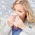 femme · moucher · santé · malade · supérieurs · froid - photo stock © dolgachov