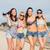 grupo · meninas · praia · verão · férias · férias - foto stock © dolgachov