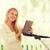 boldog · anya · táblagép · park · anyaság · technológia - stock fotó © dolgachov