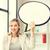kobieta · interesu · zdaniem · balon · dorosły · business · woman · stałego - zdjęcia stock © dolgachov