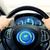 hombre · conducción · coche · manos · volante · feliz - foto stock © dolgachov