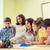 heureux · écolières · apprentissage · ordinateur · rire · regarder - photo stock © dolgachov