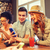 happy friends with smartphones and drinks at bar stock photo © dolgachov