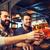 счастливым · мужчины · друзей · питьевой · пива · Бар - Сток-фото © dolgachov