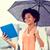 деловая · женщина · зонтик · город · бизнеса · непогода - Сток-фото © dolgachov