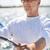 turist · yelkencilik · tekne · deniz · yelken · tropikal - stok fotoğraf © dolgachov