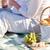 paar · picknick · vrouw · liefde · natuur · ontspannen - stockfoto © dolgachov