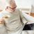 старший · человека · питьевой · горячей · напиток · очки - Сток-фото © dolgachov