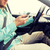 close up of man with smartphone driving car stock photo © dolgachov
