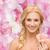mosolygó · nő · virág · szépség · virágmintás · fényes · kép - stock fotó © dolgachov