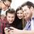 studenti · guardando · smartphone · istruzione · internet · sorridere - foto d'archivio © dolgachov