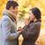 пару · обручальное · кольцо · шкатулке · фотография · женщину · рук - Сток-фото © dolgachov